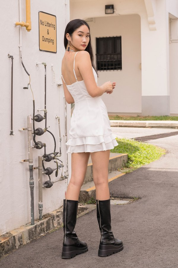 Chain Reaction Dress in White