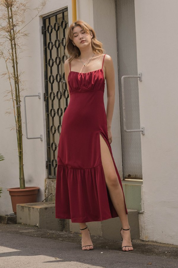 At First Glance Maxi in Jester Red