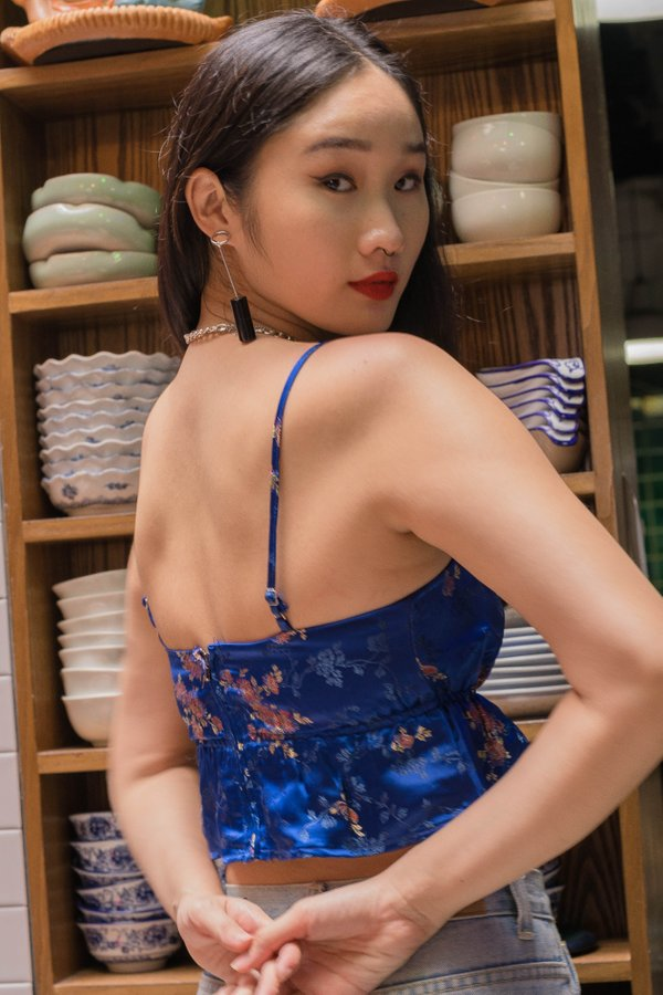 Heng Heng Top in Persian Blue