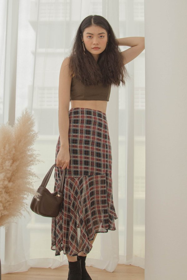 Go With The Flow Skirt in Checkered