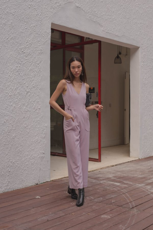Side Effect Jumpsuit in Soft Lilac