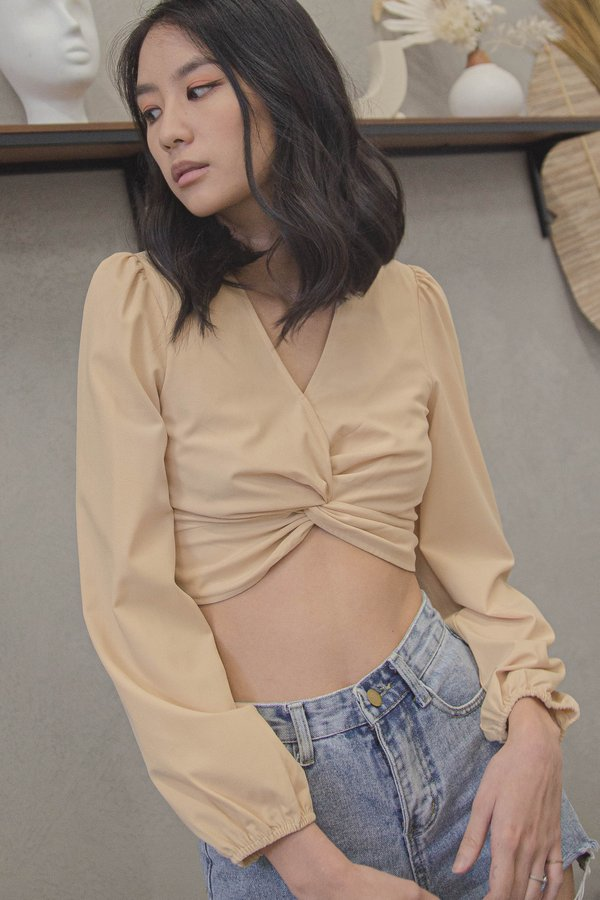 Interlink Top in Gardenia Cream