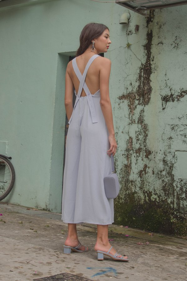 Crossroads Jumpsuit in Pastel Blue
