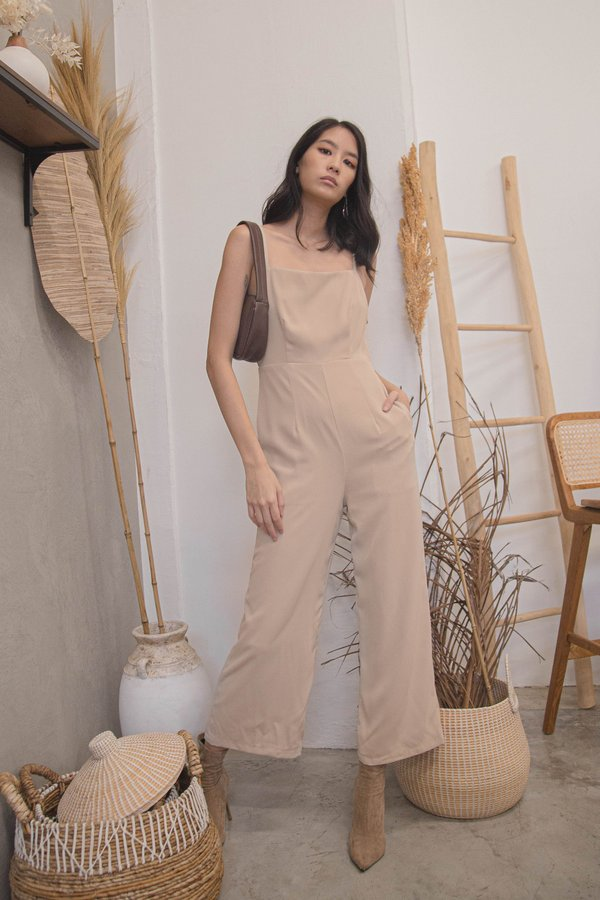 New Year's Jumpsuit in Hay Beige