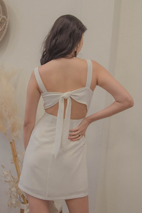Got Your Back Dress in White