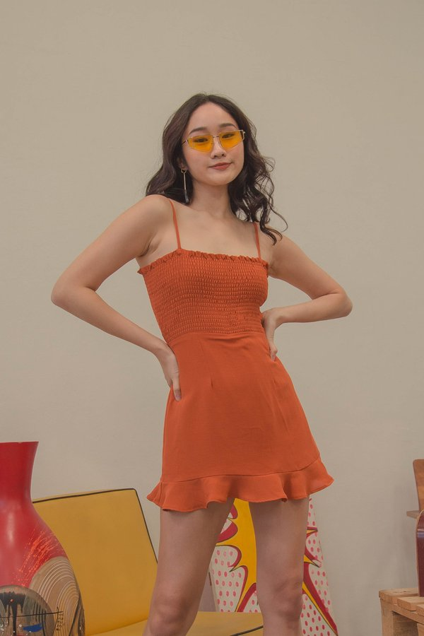 Summertime Dress in Orange Popsicle