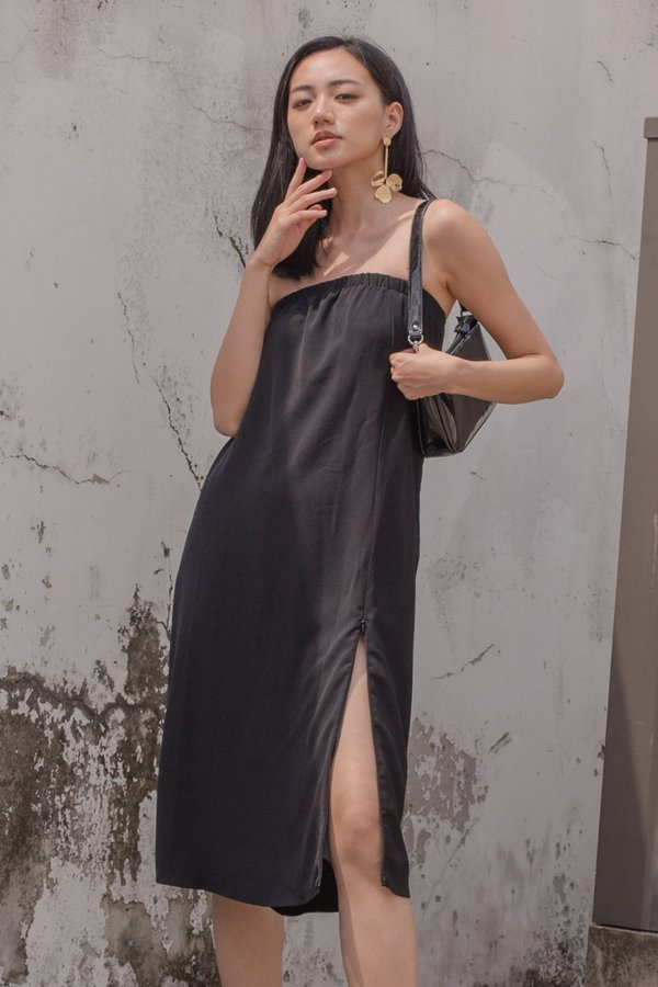 Slide Tube Midi in Black