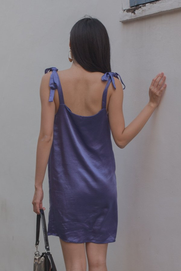 Happy Hour Dress in Light Indigo