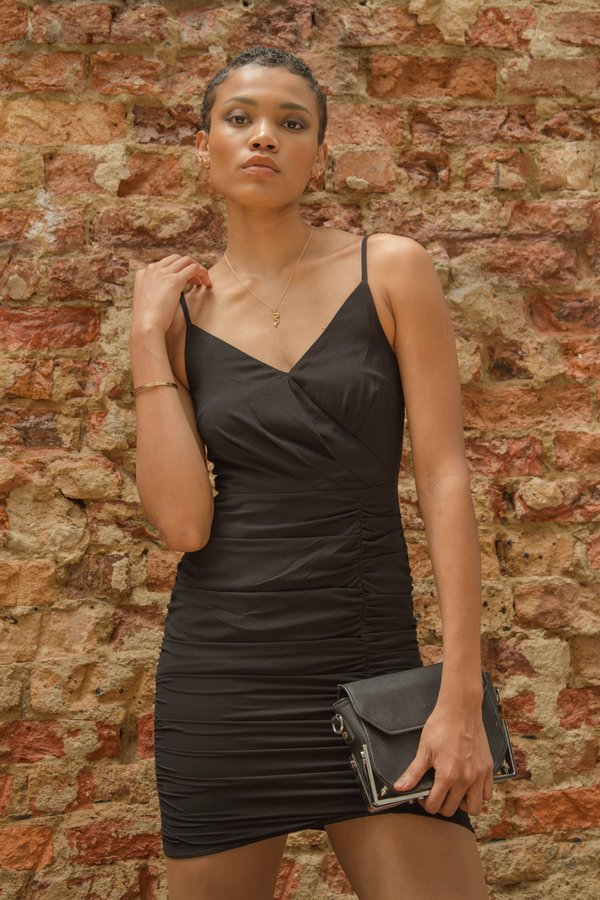 Side Chick Dress in Black