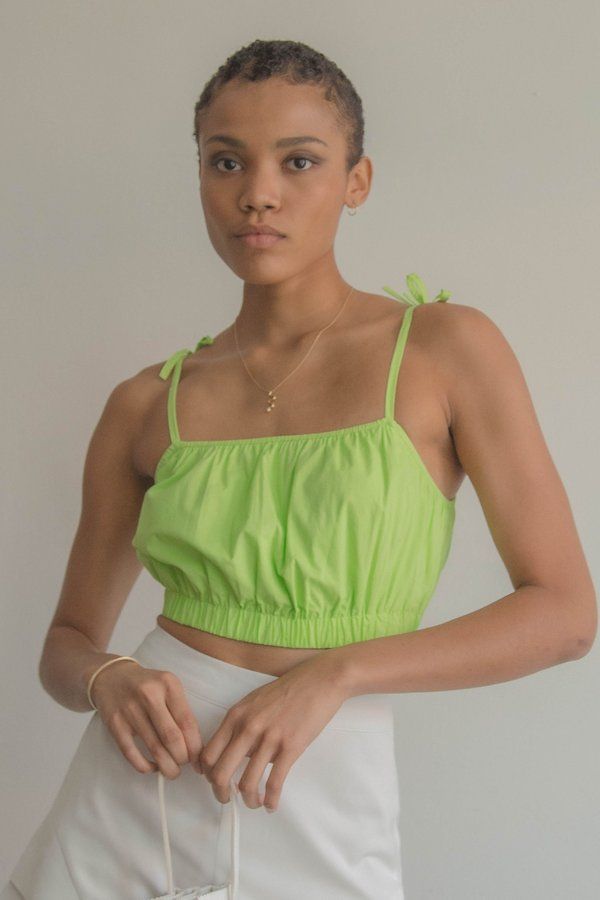 Tongue Tied Top in Neon Green