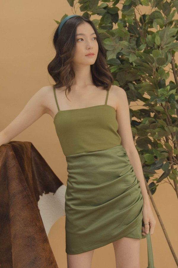Sidetrack Skirt in Pickle Green