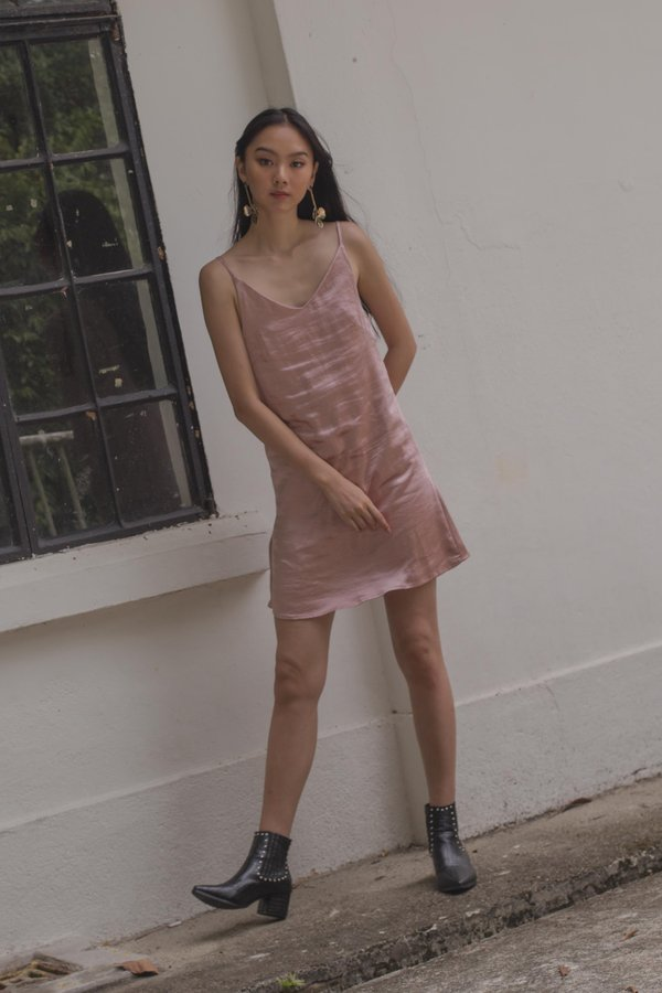 After Party Dress in Shimmer Pink