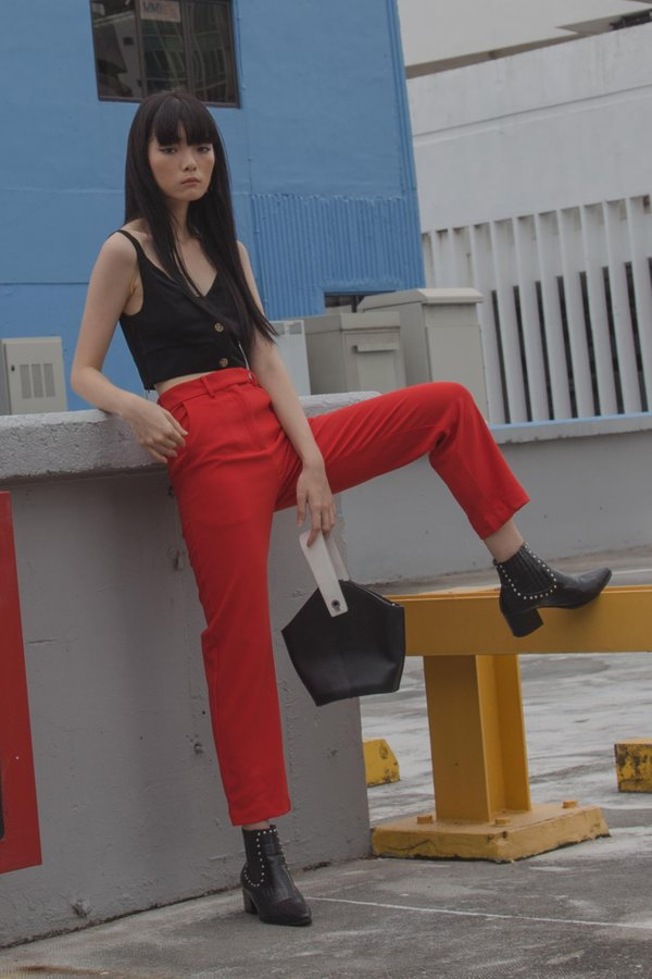 Back To Business Pants in Ferrari Red