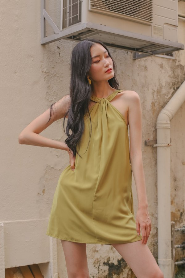 Interloop Dress in Chartreuse Pear