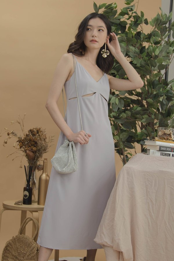 Bombshell Midi in Fog Grey