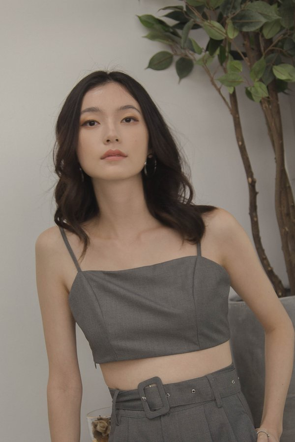 Triad Bralet in Cool Grey