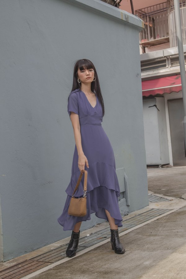 Double Take Maxi in Dark Periwinkle Blue