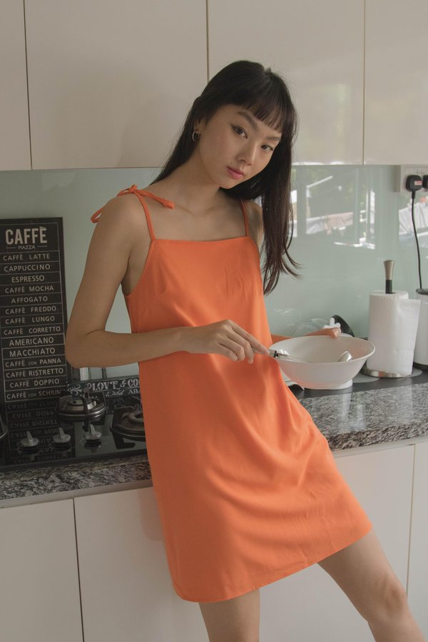 Back To Basics Dress in Tangerine