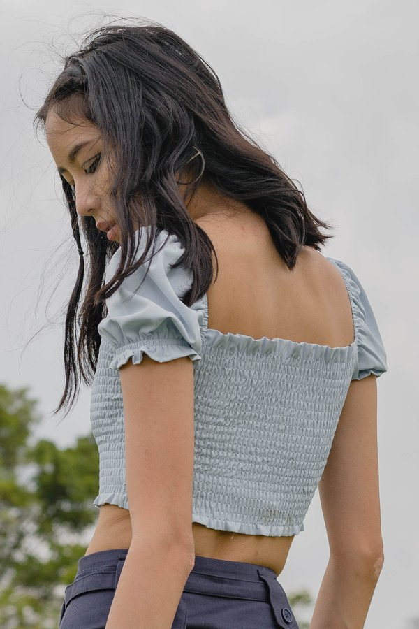 Smitten Top in Ice Blue
