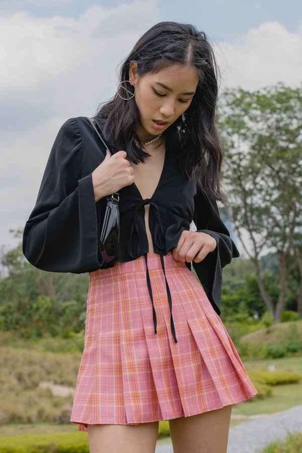 00's Skirt in Pink Orange