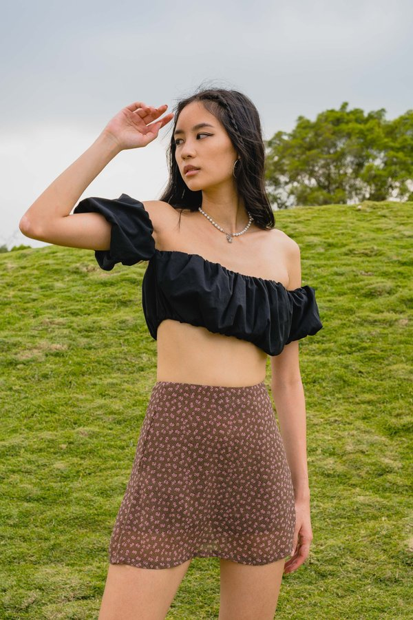 Secret Garden Skirt in Brown Floral