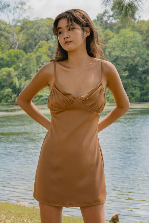 Uptown Dress in Autumn Brown