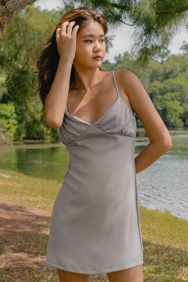 Uptown Dress in Stone Grey