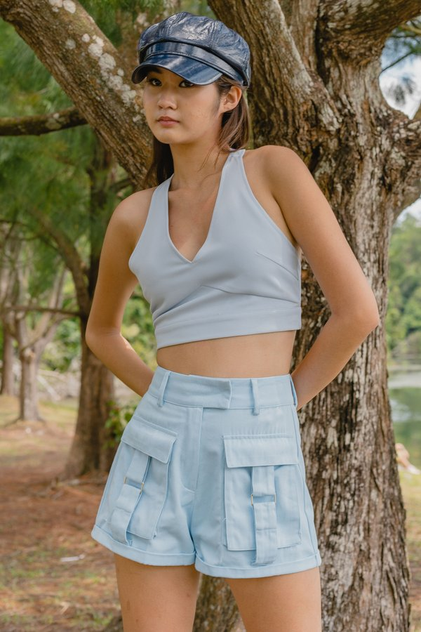 Buckle Up Shorts in Polar Blue