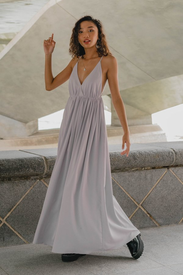 Once Upon A Maxi in Light Grey