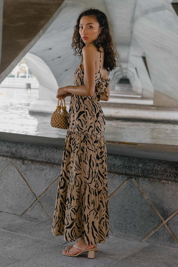 Getaway Maxi in Brown Print